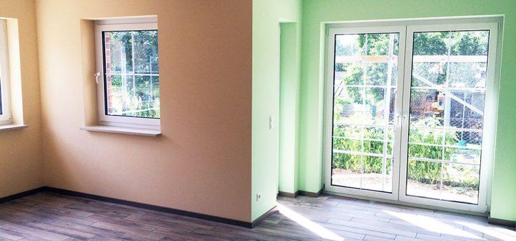 Wohnung streichen mit Dispersion Latex Silikat Farbe