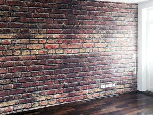 Wohnung tapezieren - Tapezierung von Vlies Naturfaser und Rauhfasertapete