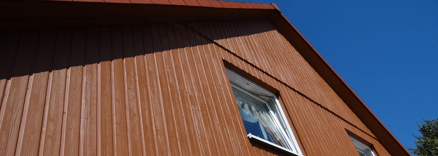 Banner Fassadengestaltung Holzlasur Aussenarbeiten